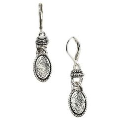 Napier Euro Oval Drop Earrings