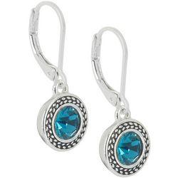 Napier Indicolite Blue Glass Drop Earrings