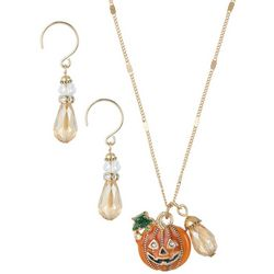 Napier Pumpkin Pendant Earring & Necklace Set