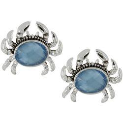 Napier Coastal Blue Crab Stud Earrings