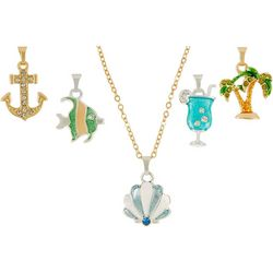 Napier Two Tone Coastal Pendant Necklace Set