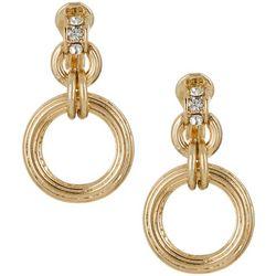 Napier Gold Tone Rings Clip On Earrings