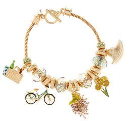 Napier Biking Picnic Charm Slider Bracelet