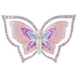 Napier Pink & Purple Butterfly Pin