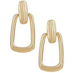 Napier Golden Vintage Small Doorknocker Drop Earrings