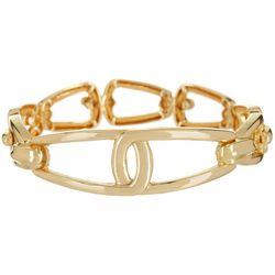Napier Golden Vintage Link Stretch Bracelet