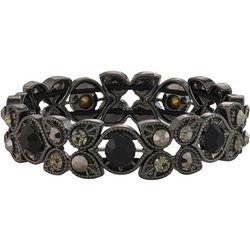 Napier Black Stone & Hematite Stretch Bracelet