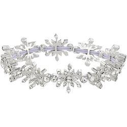 Napier Crystal Snowflake Link Stretch Bracelet