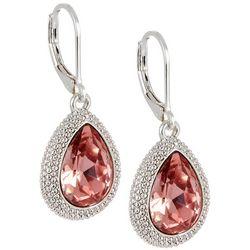 Napier Pink Crystal Elements English Tea Drop Earrings