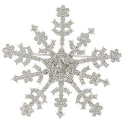 Napier Pave Rhinestone Snowflake Pin