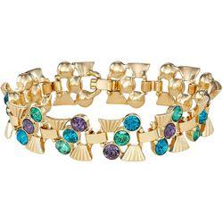 Napier Boxed Multi Stone Gold Tone Bracelet