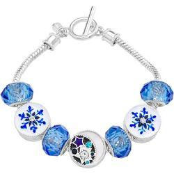 Napier Boxed Blue Snowflake Slider Toggle Bracelet