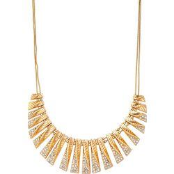 Napier Multi Row Twist & Crystal Necklace