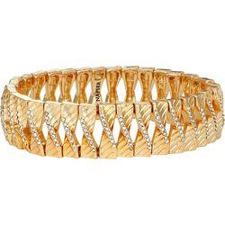 Napier Gold Tone Crystal Twist Stretch Bracelet