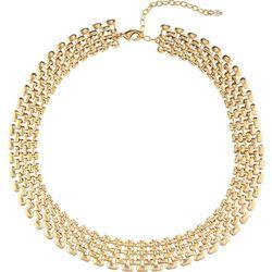 Napier Gold Tone Wide Collar Necklace