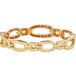 Napier Gold Tone Open Link Stretch Bracelet