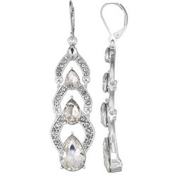 Napier Triple Teardrop Linear Leverback Earrings