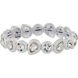 Napier Crystal Teardrop Link Stretch Bracelet