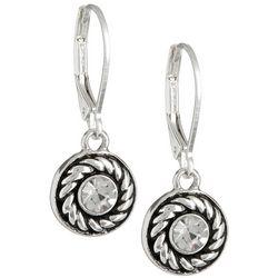 Napier Round Dangle Earrings