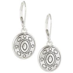 Napier Engraved Round Dangle Earrings