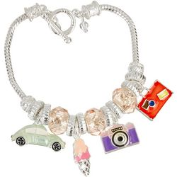 Napier Happy Traveling Charm Toggle Bracelet