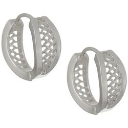 Napier Small Open Weave Huggie Hoop Earrings