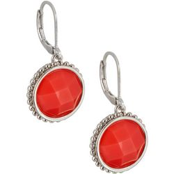 Napier Multi-Faceted Stone Leverback Earrings