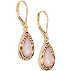 Napier Pink Facet Teardrop Lever Back Earrings
