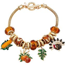 Napier Fall Harvest Charm Toggle Bracelet