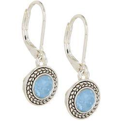 Napier Round Blue Opal Glass Earrings