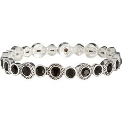 Napier Round Black & Silver Tone Stretch Bracelet
