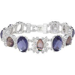 Napier Purple Multi Cabochon Link Bracelet