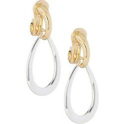Napier Two Tone Teardrop Clip On Earrings