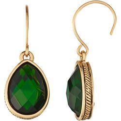 Napier Green Multi- Faceted Teardrop Earrings