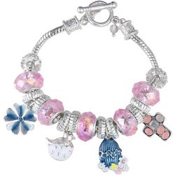 Napier Easter Cross & Egg Slider Charm Bracelet
