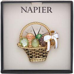 Napier Boxed Easter Egg Basket Pin
