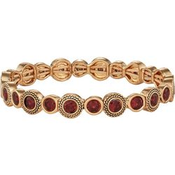 Napier Siam Red Glass Stones Stretch Bracelet