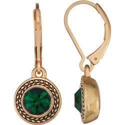 Napier Emerald Green Glass Stone Drop Earrings