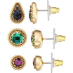 Napier 3-pc. Multi-Faceted Stud Earring Set
