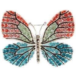 Napier Boxed Pave Rhinestone Butterfly Pin