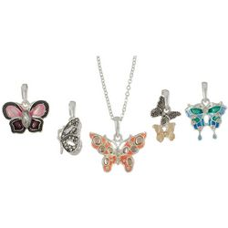 Napier 5-pc. Interchangeable Butterfly Pendant Necklace Set