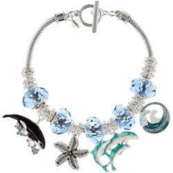 Napier Blue Multi Dolphin & Whale Charm Bracelet