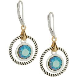 Napier Northern Lights Round Crystal Elements Earrings
