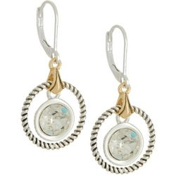 Napier Clear Crystal Elements Ring Drop Earrings