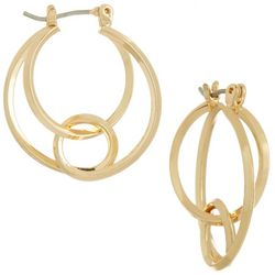 Napier Curve Expression Layered Hoop Earrings