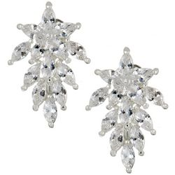 Napier Silver Tone Cubic Zirconia Stones Clip On Earrings