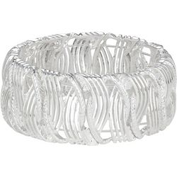 Napier Textured Open Link Stretch Bracelet