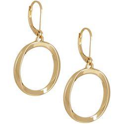 Napier Gold Tone Open Ring Drop Earrings
