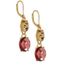 Napier Pink Multi Double Drop Earrings