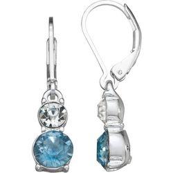 Napier Blue & Clear Stone Drop Earrings